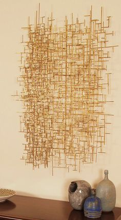 Mid century modern Bertoia inspired bronze abstract wall sculpture by Rinehart Retro, via Flickr