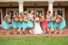 A Vibrant Coral and Aqua Wedding in Virginia - Fab You Bliss