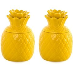 Pina Pineapple Jar Set Of 2 found on Polyvore featuring home, kitchen & dining, fruit jar, colored jars and stoneware jar Top Home Products...