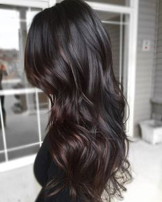 Are you looking for dark chocolate hair color for brunettes balayage? See our collection full of dark chocolate hair color for brunettes balayage and get inspired! Balayage Brunette, Hair Color Balayage, Brunette Hair, Black Balayage, Long Brunette, Subtle Balayage, Balayage Hair Dark Black, Subtle Ombre, Balayage Highlights