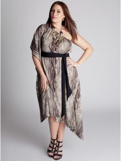 One dress - infinite possibilities.. I love the python print that is so hot on the runways for the Spring/Sumer 2012