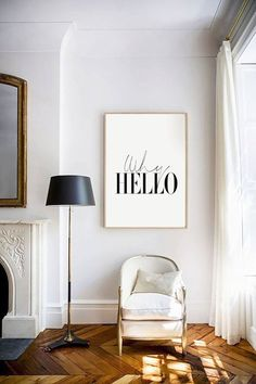 Digital Download Why Hello Typography Poster by honeymoonhotel