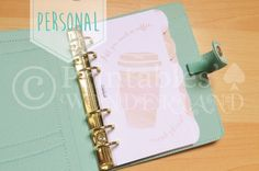 Personal planner dividers set - Set d'intercalaires organiseur personal - Coffee - Planner dashboard