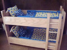 Oak Doll Bunk BedFits American Girl Doll and 18 by MainStCrafts, $70.00
