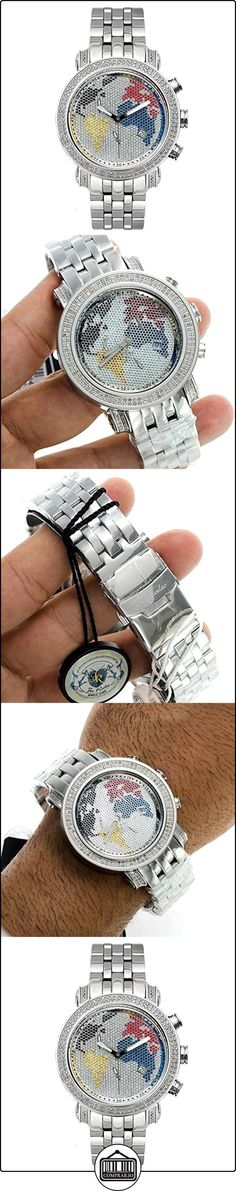 Joe Rodeo Diamond el reloj de los hombres - de plata clásico 1,75 ctw  ✿ Relojes para hombre - (Lujo) ✿