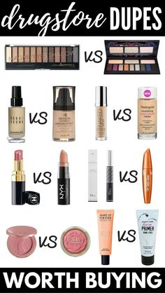 The Best Makeup Dupes: 12 Drugstore Dupes for High End Products | Who says makeup on a budget has to be low quality?! From mascara dupes to eyeshadow dupes, primer dupes to foundation dupes, and lipstick dupes to blush dupes, check out the best drugstore alternatives for high end products! Looking good has never been cheaper!