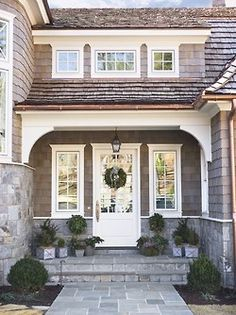 30 Front Door Ideas and Paint Colors for Exterior Wood Door Decoration or Home… Your home front door decoration is an important element of modern house exterior design and home staging Home Staging, Houses Architecture, Wood Exterior Door, Stone Exterior, Grey Exterior, Exterior Colors, Exterior Windows, Stone Siding, Exterior Paint