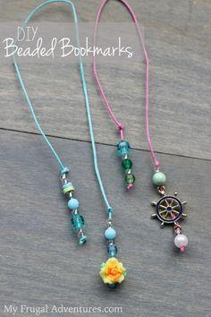DIY Beaded Bookmarks {Fun Children's Craft}