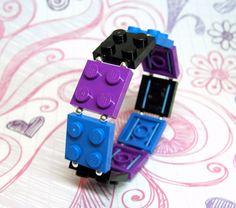 Lego Bracelet on Etsy. <3