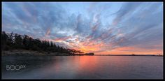 Sunrise on the Lagoon - Taken from Wheatcroft Park, Nanaimo BC. Baker Image, Sunrise Colors, Hd Desktop, Places To Visit, Colours, Sunset, Park, Outdoor, Rising Sun
