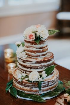 Naked Wedding Cake   We Were Together I Forget The Rest   Jaclyn and Stephan Say I Do at RT Lodge with photos by Dixie Pixel   The Pink Bride®️ www.thepinkbride.com