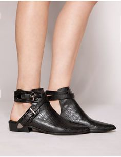 Pixie Market Croc Wrap Pointy Boots