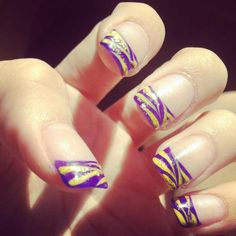 I think I might have to do my nails like this for the Tiger Beat release party... #goteam #TigerBeat #LSU