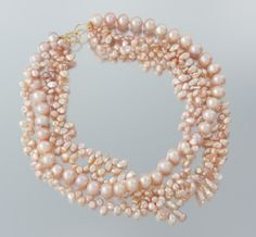 A Designed Multistrand Baroque Pearl Necklace by Linda Bergman