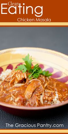 Clean Eating Chicken Masala #cleaneating #cleaneatingrecipes #eatclean #slowcooker #slowcookerrecipes