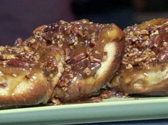 These are a bit of work but are out of this world YUMMY!!!  Flour's Famous Sticky Buns from FoodNetwork.com