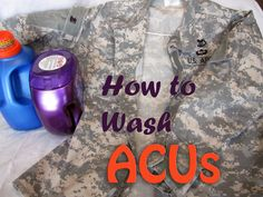 Useful tips for laundering military uniforms. John washes his own, but good to know!