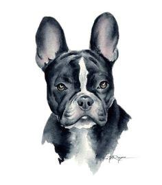 FRENCH BULLDOG Dog Art Print Signed by Artist DJ by k9artgallery, $12.50