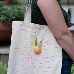 Tote Bag Planter Yellow  by Wearable Planter