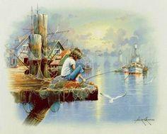 в порту - Схемы вышивки - Thorax - Авторы - Портал «Вышивка крестом»