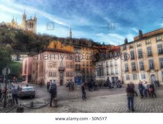 Download this stock image: Square Saint Jean, Lyon, France - S0N5Y7 from Alamy's library of millions of high resolution stock photos, Stock Photo, illustrations and vectors.
