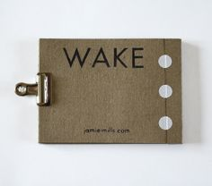 WAKE / Concertina Book by JamieMilk on Etsy, £3.50