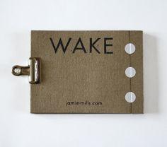 WAKE / Concertina Book via Etsy