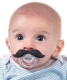 Mustache baby pacifier.