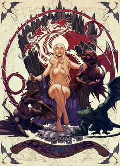 Daenerys Targaryen - Game of Thrones - emmshin.deviantart.com