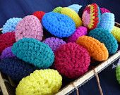 Pot Scrubbers (Scrubbies) Variety of Colors Set of Seven.( from Cards and Cases on etsy.).....I was introduced to these at christmas and decided to purchase these. They work fabulous on ceramic, non stick, you name it! When mine are dead, I will be back for more!