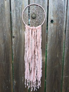 Large Dream Catcher Pink Gold Geometric by BohoDreamCapture