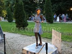 Video about Living statue - dancer with blue hat at international festival of living statues in Bucharest, Romania. Video of international, amusement, history - 93875336