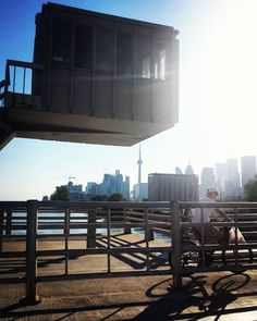 #in-tense  To bike or not to #bike this #TravelTuesday? Why not #cycle with a #view on #TorontoTuesday!? Way tooo many #CNtower #instapics... Not on #TowerTuesday in #Toronto :) #cyclist #city #skyline #CherrySt #YYZ #skyscrapers #waterfront #tt #Twitter your fav #GTA #photos