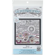 Zenbroidery Stamped Embroidery 10inX10in Waves from Quilting-Warehouse