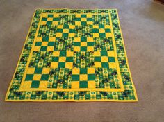 John Deere Quilt for a Toddler by mommomsquilts on Etsy