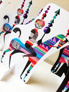 #QR Code Artistico - - Artistic QR code knight Retro Graphic Design, Ad Design, Graphic Prints, Book Design, Pattern Design, Coding For Kids, Typography Logo, Cute Art, Business Card Design