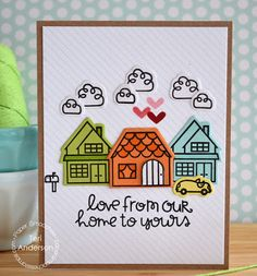 Card by PS DT Teri Anderson using the PS Bitty Bungalow stamp set and coordinating dies