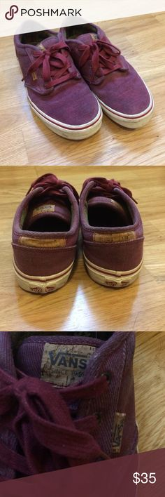 Vans maroon corduroy shoes ✌️️ Great condition! Worn but no holes or major sings of wear and tare! These are a women's size 6. Super cute and very comfortable! ✌️️ Vans Shoes Sneakers
