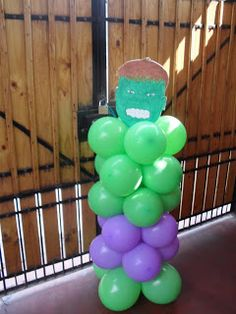 Narthex or Gym Entrance Hulk Birthday Parties, Superhero Birthday Party, Lego Birthday, Third Birthday, Hulk Party, Superman Party, Avengers Party Decorations, Balloon Decorations, Avengers Birthday