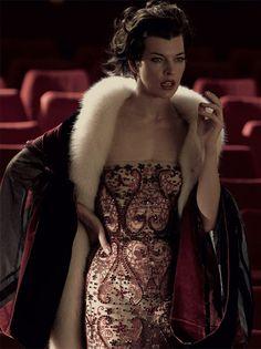 Milla Jovovich by Miles Aldridge for Vogue Italia September 2012