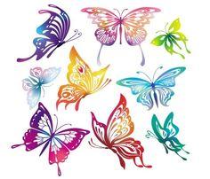 animaux,silhouettes,papillon,vecteur