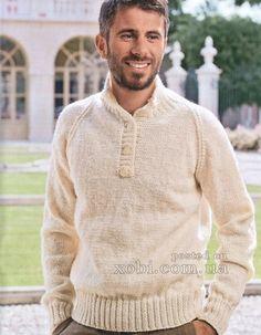 классический мужской пуловер