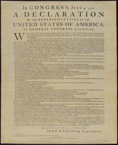 Declaração da Independência. No Congresso, 4 de Julho de 1776, uma Declaração dos Parlamentares dos Estados Unidos da América, no Congresso Geral Reunido. — Visualizador — Biblioteca Digital Mundial