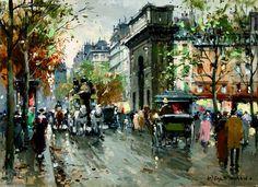 Porte-Saint-Martin (3) de Antoine Blanchard (Marcel Masson) (1910-1988, France)