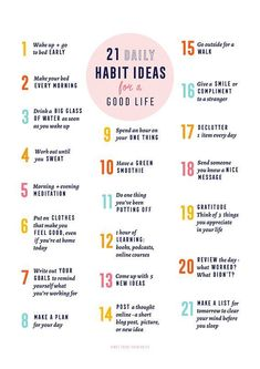 51 positive and healthy habits for a better and more amazing life. You are what you repeatedly do, so start today by implementing one or more of the habits on the list. Good Habits, Healthy Habits, Healthy Tips, Healthy Weight, Trim Healthy Recipes, Healthy Choices, Vie Motivation, Health Motivation, School Motivation