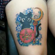 Finished sailor moon tattoo by anna spitz ♥