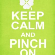 Keep Calm and Pinch On St Patrick's Day Peppermint Patty Favor Free sweet Printables ishareprintables.com  #freeprintables #stpatricksday #ishareprintables