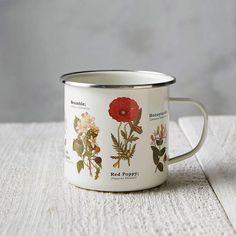 Enamel Wildflower Mug #ad #homedecor #homestyle #homedecorideas  #AnthroFave #AnthroRegistry