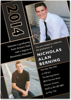 Angled Achievement - Graduation Invitations in black. #graduation
