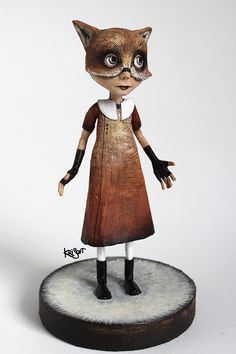 Vicky Foxy Lady OOAK DOLL KriSoft by KriSoft on Etsy
